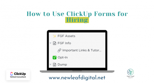 How to use ClickUp forms for hiring