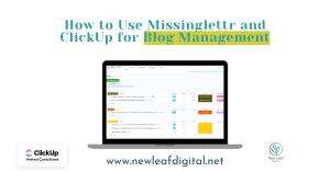 ClickUp for Blog Management